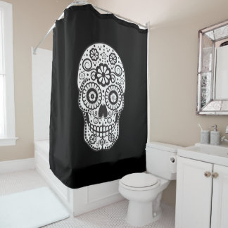 Smiling Sugar Skull Shower Curtain