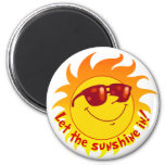 Smiling Summer Sun Fridge Magnet
