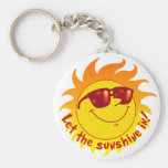 Smiling Summer Sun Key Chains