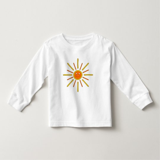 Smiling Summer Sun. Yellow and Orange. Toddler T-Shirt
