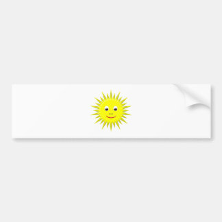 Smiling Sun bumper sticker