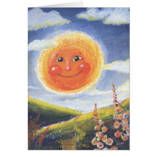 smiling sun card