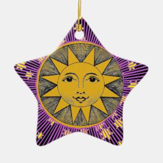 Smiling Sun Christmas Ornament