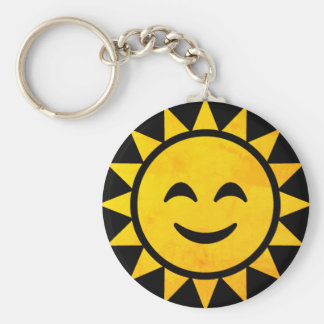 Smiling Sun Emoji Key Ring