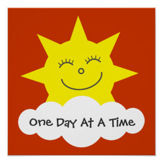 Smiling Sun One Day At A Time Recovery Poster