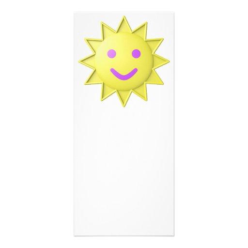 smiling sun rack card