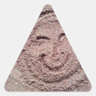 Smiling Sun, Sand Emoticon, Summer Emoji Triangle Sticker