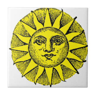 Smiling sun tile