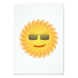 Smiling Sun Wearing Sunglasses 9 Cm X 13 Cm Invitation Card