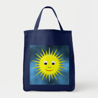 Smiling Sun with blue sky bag