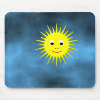 Smiling Sun with blue sky mousepad