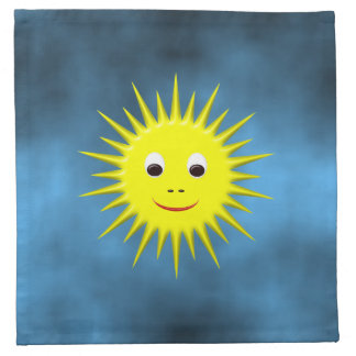 Smiling Sun with blue sky napkins