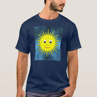 Smiling Sun with blue sky T-shirt