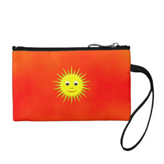 Smiling Sun with orange sky bag