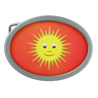 Smiling Sun with orange sky belt buckle