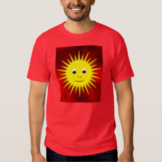 Smiling Sun with red sky T-shirt