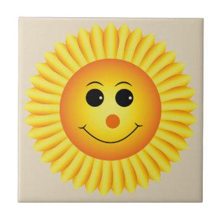 Smiling Sunflower Tile