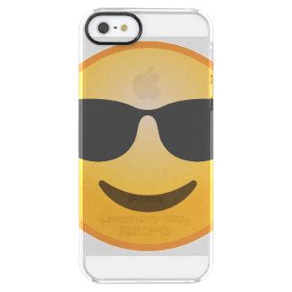 Smiling Sunglasses Emoji Clear iPhone SE/5/5s Case