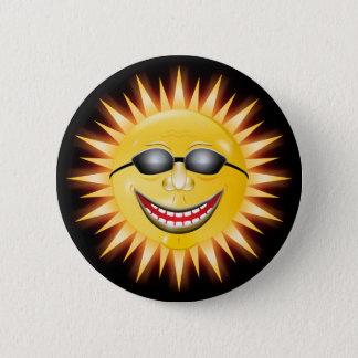 Smiling Sunshine 6 Cm Round Badge