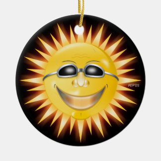 Smiling Sunshine Christmas Ornament