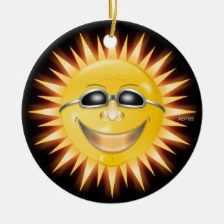 Smiling Sunshine Round Ceramic Decoration