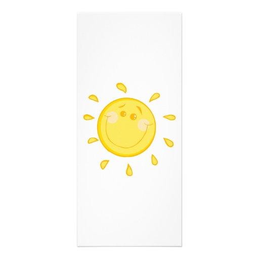 SMILING SUNSHINE SUN HAPPY SUMMER CARTOON ART CUSTOMIZED RACK CARD