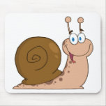 Smiling Super Snail Mouse Pad