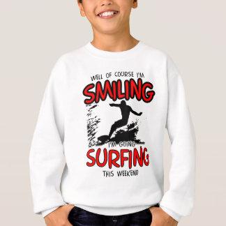 SMILING SURFING AT WEEKEND (BLK) SWEATSHIRT