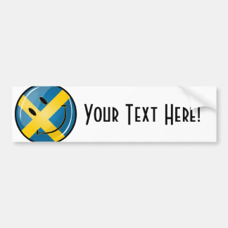 Smiling Swedish Flag Bumper Sticker