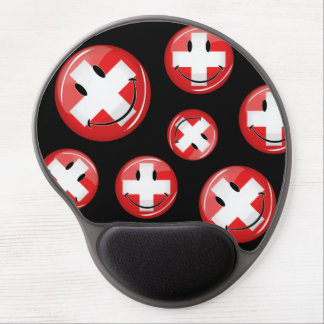 Smiling Swiss Flag Gel Mouse Pad