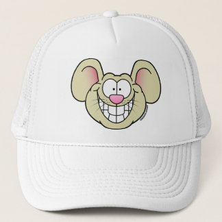 Smiling Tan Mouse Hat