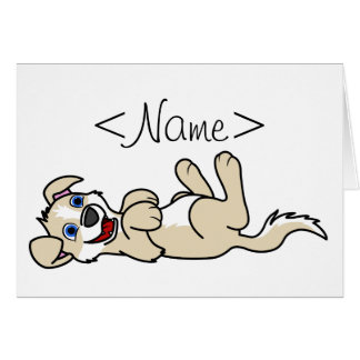Smiling Tan Puppy Dog with Blaze Roll Over Greeting Card