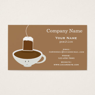 Smiling Tea Cup Business Card