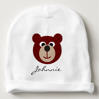 Smiling Teddy Bear + your background & ideas Baby Beanie