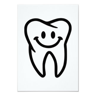 Smiling tooth 3.5x5 paper invitation card