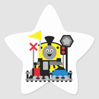 Smiling Train Star Sticker