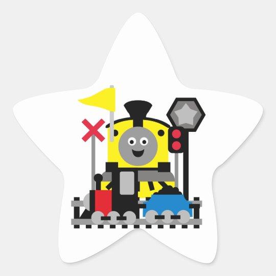 Smiling Train Star Sticker