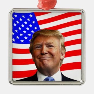 Smiling Trump Christmas Ornament