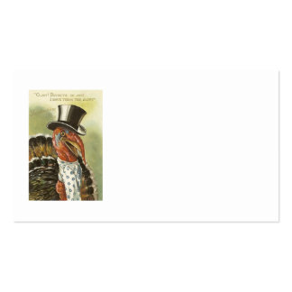 Smiling Turkey Top Hat Pack Of Standard Business Cards