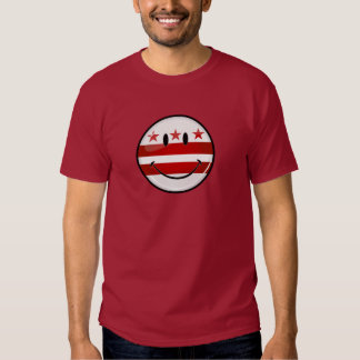 Smiling Washington DC Flag T Shirt