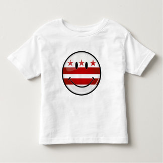 Smiling Washington DC Flag Toddler T-Shirt