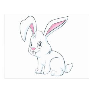 Smiling White Rabbit Postcards