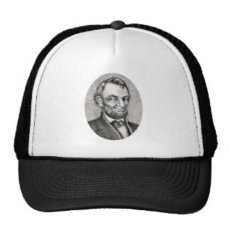 Smiling Winking Abraham Lincoln Cap Trucker Hat