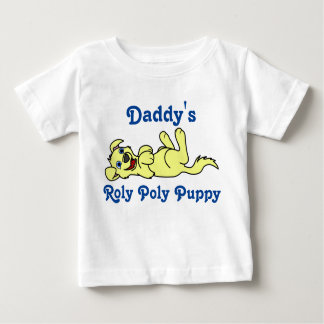 Smiling Yellow Puppy Dog Roll Over Baby T-Shirt