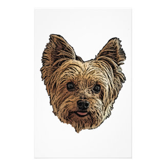 Smiling Yorkie Stationery
