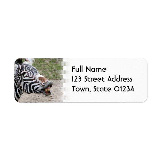 Smiling Zebra Mailing Label