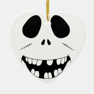 Smiling Zombie Face Christmas Ornament
