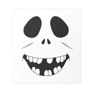 Smiling Zombie Face Notepad