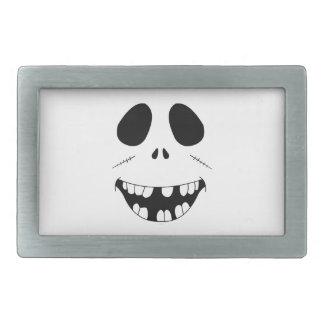 Smiling Zombie Face Rectangular Belt Buckle