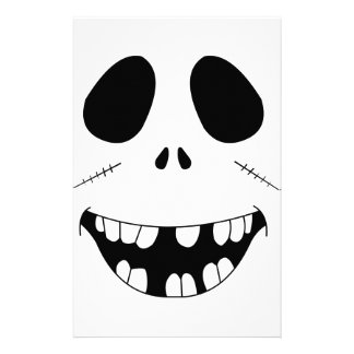 Smiling Zombie Face Stationery Paper